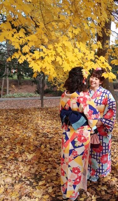 紅葉の秋を着物を着て楽しもう!